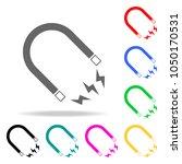 magnet icon. elements of school ... | Shutterstock .eps vector #1050170531