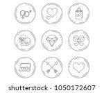 love heart  gift box and... | Shutterstock .eps vector #1050172607