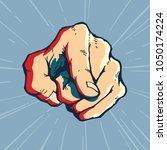 pointing finger illustration ... | Shutterstock .eps vector #1050174224