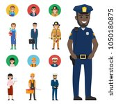 professions people vector icons ... | Shutterstock .eps vector #1050180875