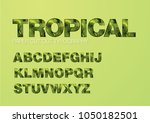 tropical paper cut out... | Shutterstock .eps vector #1050182501