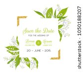 save the date card with blossom ... | Shutterstock .eps vector #1050188207