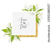 save the date card with blossom ... | Shutterstock .eps vector #1050188507
