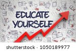 educate yourself   increase... | Shutterstock . vector #1050189977