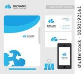 company brochure with elegent... | Shutterstock .eps vector #1050192161
