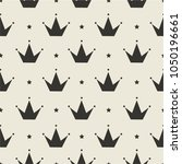 black and white princess crown... | Shutterstock .eps vector #1050196661