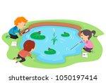 illustration of stickman kids... | Shutterstock .eps vector #1050197414