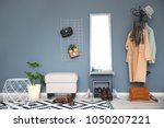 stylish hallway interior with...   Shutterstock . vector #1050207221