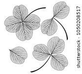 Set Leaf Clover . Vector...