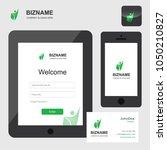company app design in tablet...