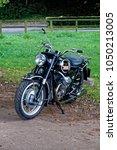Small photo of Crockerton, Wiltshire, UK - October 6, 2017: A 1970 Moto Guzzi V750 Ambassador motorcycle