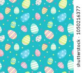 easter eggs   decorated eggs... | Shutterstock .eps vector #1050216377