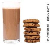 milk and cookies | Shutterstock . vector #1050216941