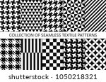 collection of seamless textile... | Shutterstock .eps vector #1050218321
