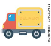 truck vehicle lorry  | Shutterstock .eps vector #1050219611
