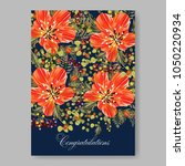 floral wedding invitation... | Shutterstock .eps vector #1050220934
