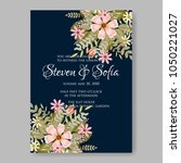 floral wedding invitation... | Shutterstock .eps vector #1050221027