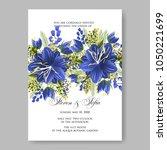 floral wedding invitation... | Shutterstock .eps vector #1050221699
