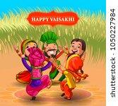 happy vaisakhi new year... | Shutterstock .eps vector #1050227984