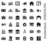 flat vector icon set  ... | Shutterstock .eps vector #1050231704