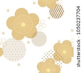floral seamless background with ... | Shutterstock .eps vector #1050237704