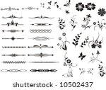 floral design elements for... | Shutterstock .eps vector #10502437