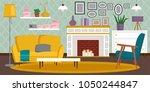 vip vintage interior furniture... | Shutterstock .eps vector #1050244847