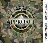 approach on camo pattern | Shutterstock .eps vector #1050247361
