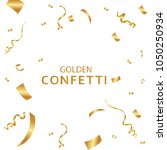golden confetti  isolated on... | Shutterstock .eps vector #1050250934