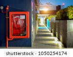fire safety concept  fire... | Shutterstock . vector #1050254174