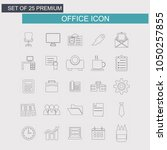 office icons set | Shutterstock .eps vector #1050257855