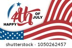 happy 4th of july hand drawn... | Shutterstock .eps vector #1050262457