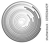 round concentric geometric... | Shutterstock .eps vector #1050266429