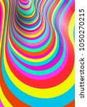 colorful fluid curved lines... | Shutterstock .eps vector #1050270215