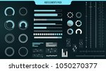 set of vector hud elements for... | Shutterstock .eps vector #1050270377