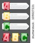 ABC progress labels / icons in vectors - stock vector