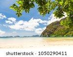 corong corong beach in el nido  ... | Shutterstock . vector #1050290411