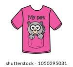 funny racoon cartoon design... | Shutterstock .eps vector #1050295031