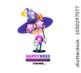 happyness is loaded. magican... | Shutterstock .eps vector #1050297077