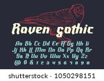raven gothic   decorative... | Shutterstock .eps vector #1050298151