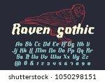 raven gothic   decorative... | Shutterstock .eps vector #1050298151