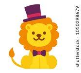 cute cartoon dandy lion with... | Shutterstock .eps vector #1050298679