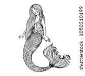 young beauty mermaid fabulous... | Shutterstock . vector #1050310199