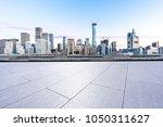 empty floor with panoramic... | Shutterstock . vector #1050311627