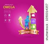 kids omega calcium and vitamin... | Shutterstock .eps vector #1050314357