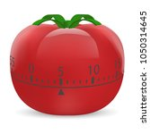 cooking timer mockup. realistic ... | Shutterstock .eps vector #1050314645