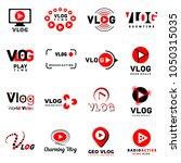 vlog video channel logo icons...   Shutterstock .eps vector #1050315035