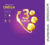 kids omega calcium and vitamin... | Shutterstock .eps vector #1050315179