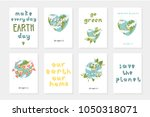 set of 8 cute ready to use gift ... | Shutterstock .eps vector #1050318071