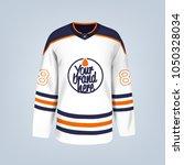 vector illustration of hockey... | Shutterstock .eps vector #1050328034
